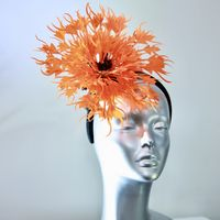 Bespoke Couture Orange Fascinator Special SD1045